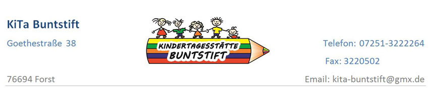 kopfzeile kita buntstift we